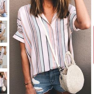 Museforlady striped blouse